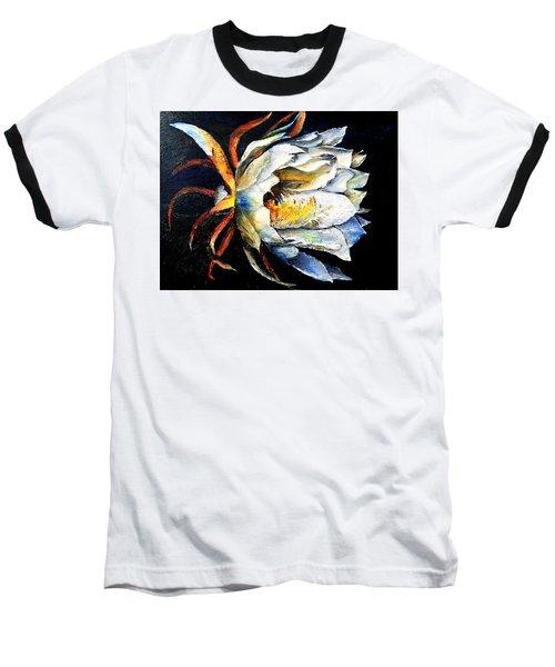 Nocturnal Desert Blossom Baseball T-Shirt