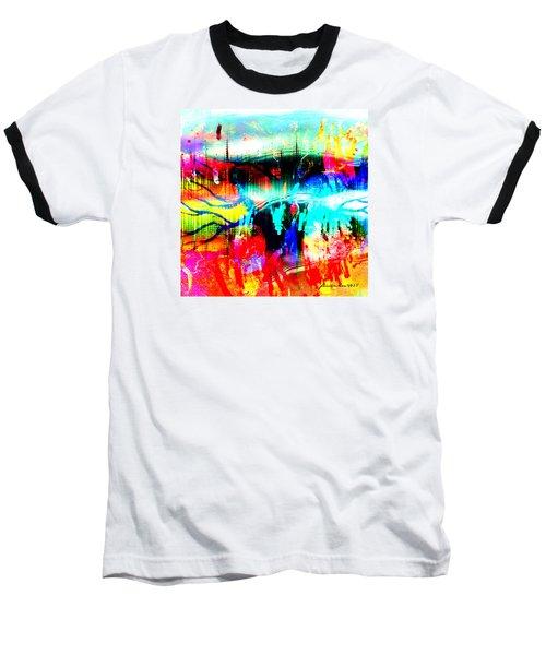 Noel Tree Baseball T-Shirt by Fania Simon