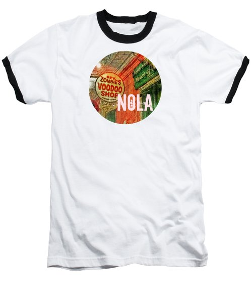New Orleans Voodoo T Shirt Baseball T-Shirt by Valerie Reeves