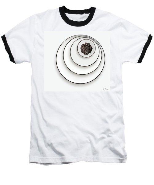 Nonconcentric Dishware And Coffee Baseball T-Shirt by Joe Bonita
