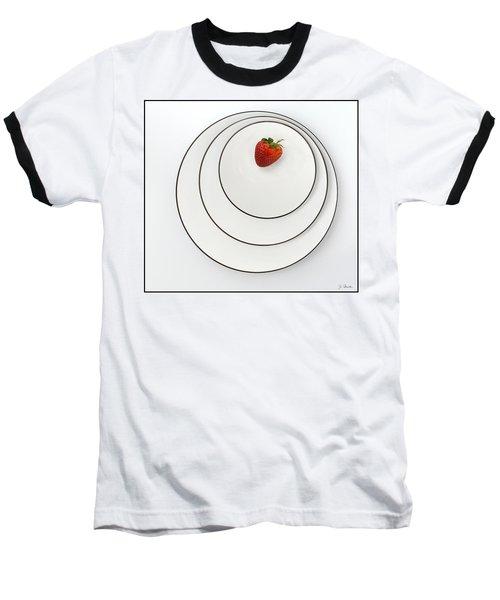Nonconcentric Strawberry No. 2 Baseball T-Shirt by Joe Bonita