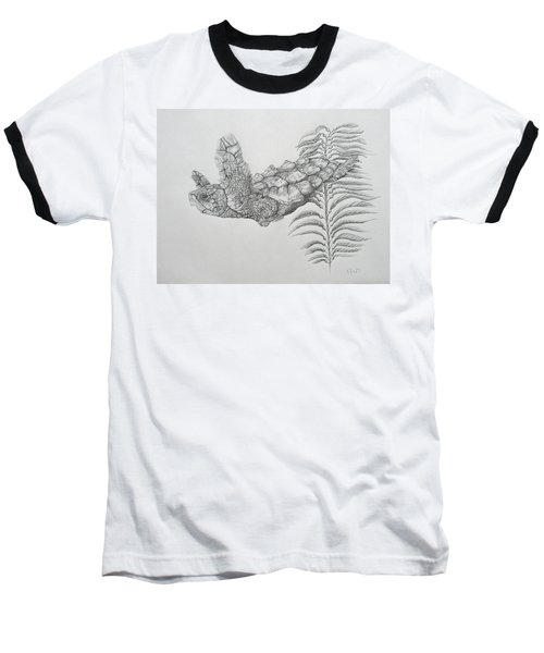 Baseball T-Shirt featuring the drawing Norman by Mayhem Mediums