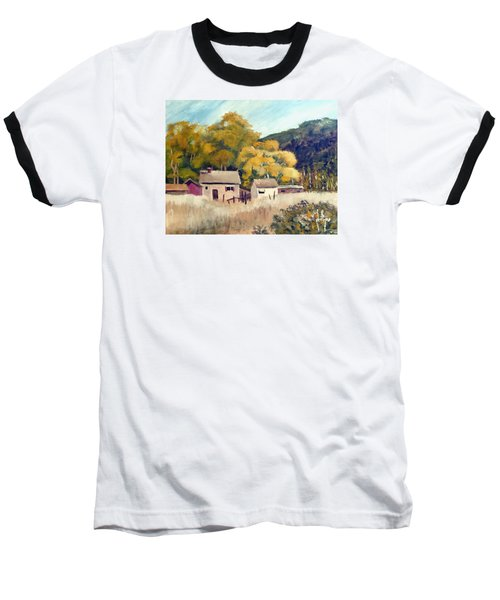 Baseball T-Shirt featuring the painting North Carolina Foothills by Jim Phillips