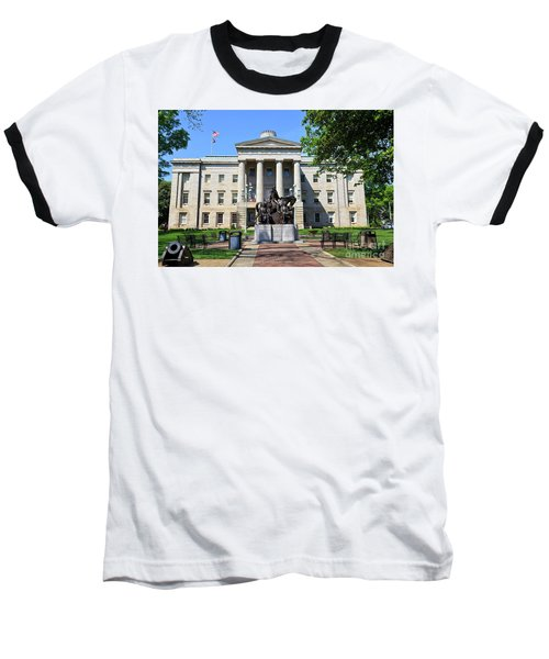 North Carolina State Capitol Building With Statue Baseball T-Shirt