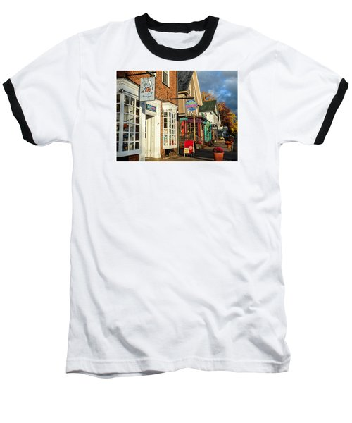 Baseball T-Shirt featuring the photograph North Conway Village 2 by Nancy De Flon