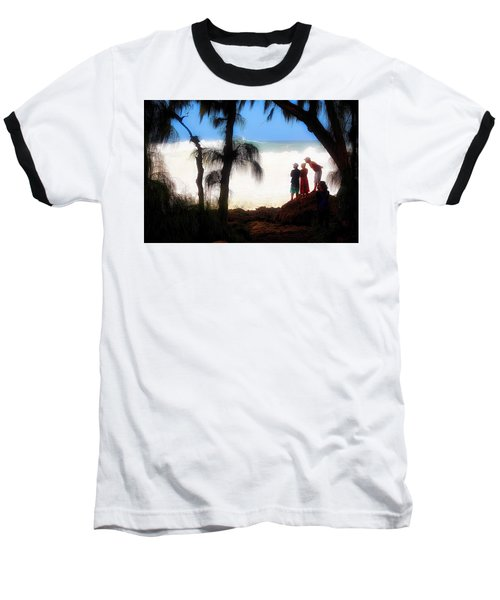 Baseball T-Shirt featuring the photograph North Shore Wave Spotting by Jim Albritton