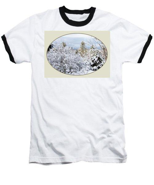 northeast USA photography button Baseball T-Shirt by Lise Winne