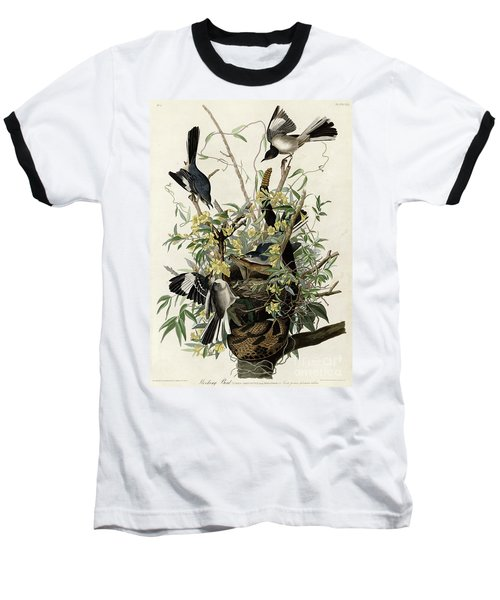 Northern Mockingbird Baseball T-Shirt by Granger