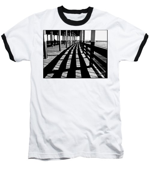 Nostalgic Walk On The Pier Baseball T-Shirt