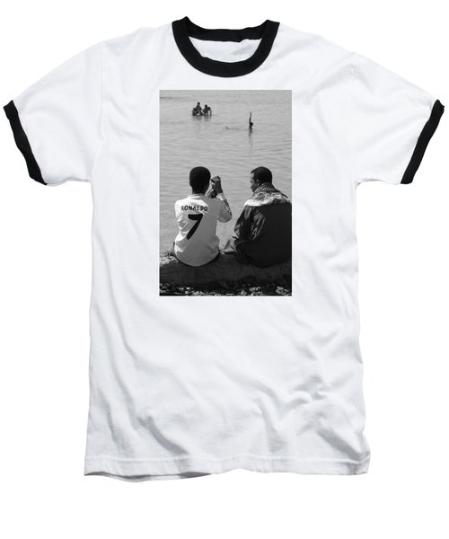 Baseball T-Shirt featuring the photograph Not Waving But Drowning by Jez C Self