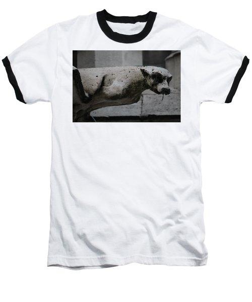 Notre Dame Bat Gargoyle Baseball T-Shirt by Christopher Kirby