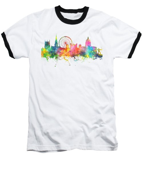 Nottingham  England Skyline Baseball T-Shirt