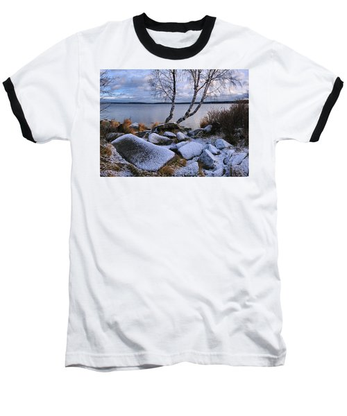 Baseball T-Shirt featuring the photograph November Day by Vladimir Kholostykh