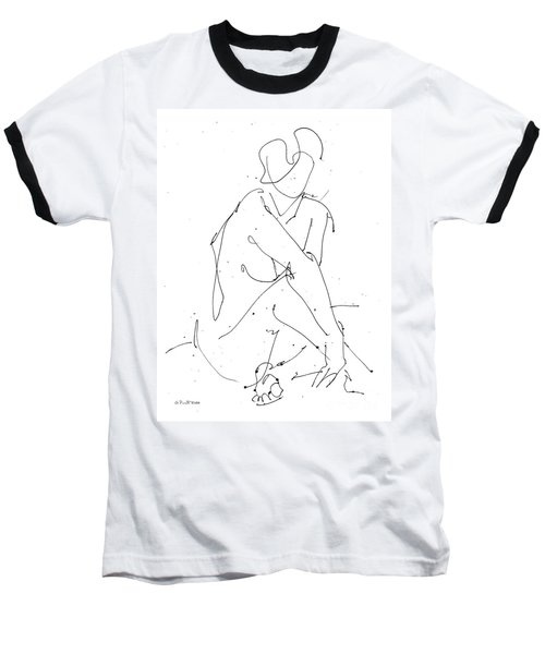 Nude-female-drawing-19 Baseball T-Shirt