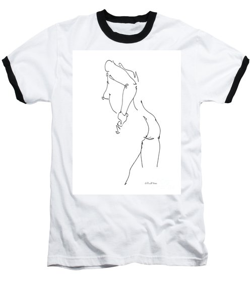 Nude Female Drawings 11 Baseball T-Shirt