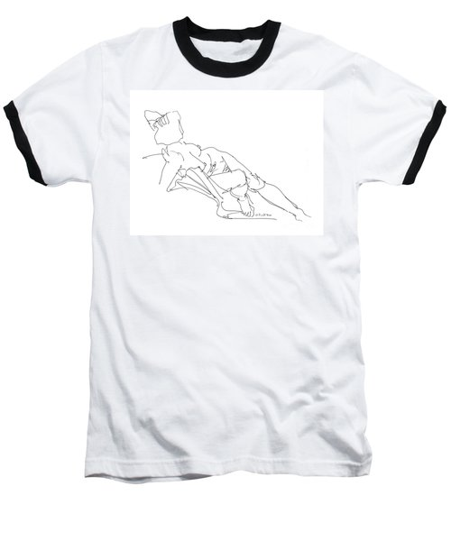 Nude Female Drawings 3 Baseball T-Shirt
