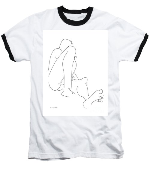 Nude-male-drawing-12 Baseball T-Shirt