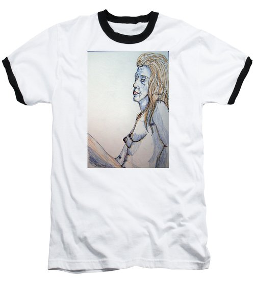 Nude With Blues Baseball T-Shirt by Rand Swift