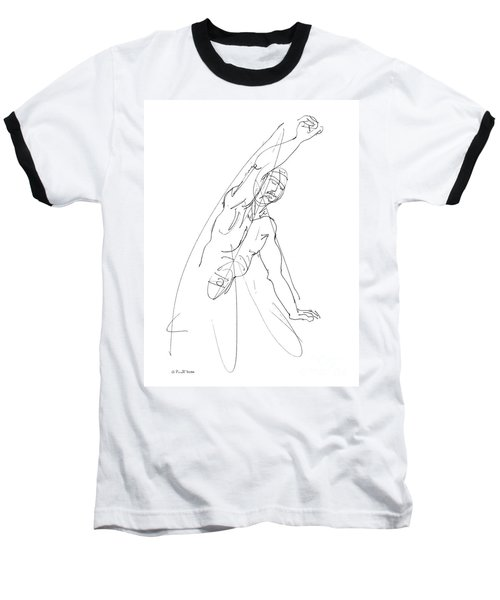 Nude_male_drawing_25 Baseball T-Shirt