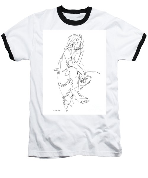 Nude_male_drawing_29 Baseball T-Shirt