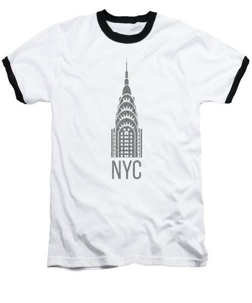 Baseball T-Shirt featuring the drawing Nyc New York City Graphic by Edward Fielding
