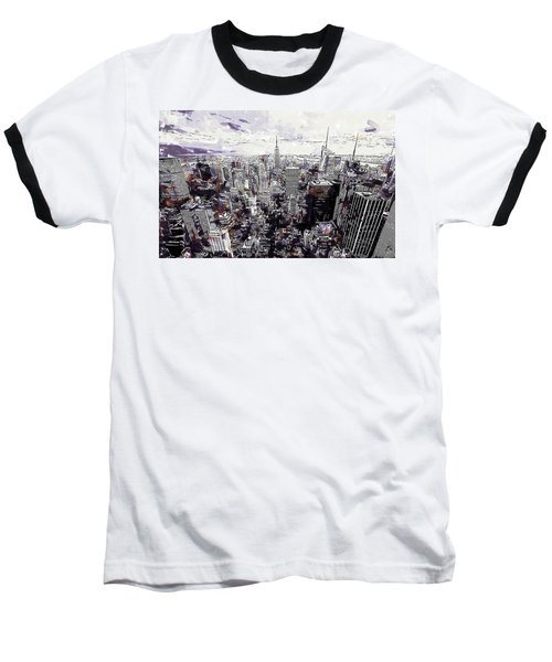Nyc View From Rockefeller Center Baseball T-Shirt
