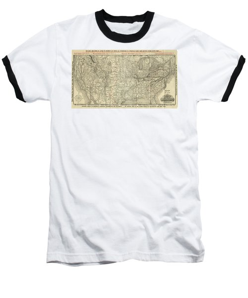 O And M Map Baseball T-Shirt