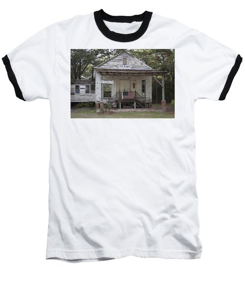 O K Zeaglers Mercantile And Post Office Baseball T-Shirt by Suzanne Gaff