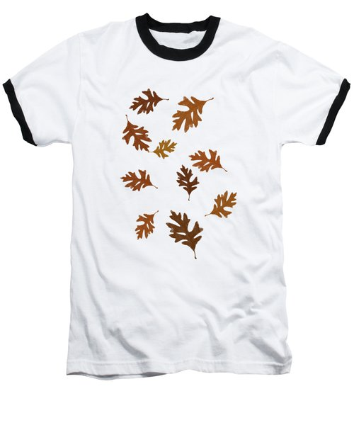 Oak Leaves Art Baseball T-Shirt