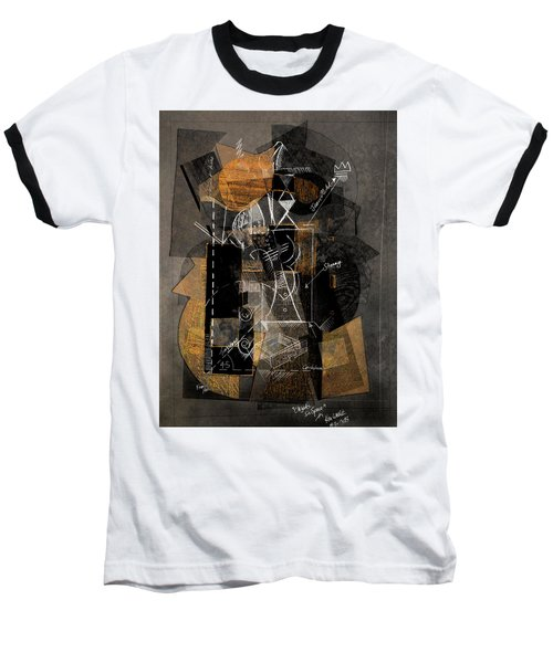 Objects In Space With Ochre Baseball T-Shirt