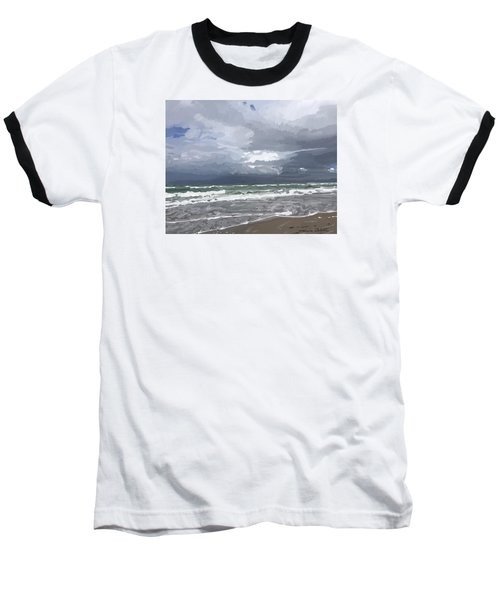Ocean And Clouds Over Beach At Hobe Sound Baseball T-Shirt