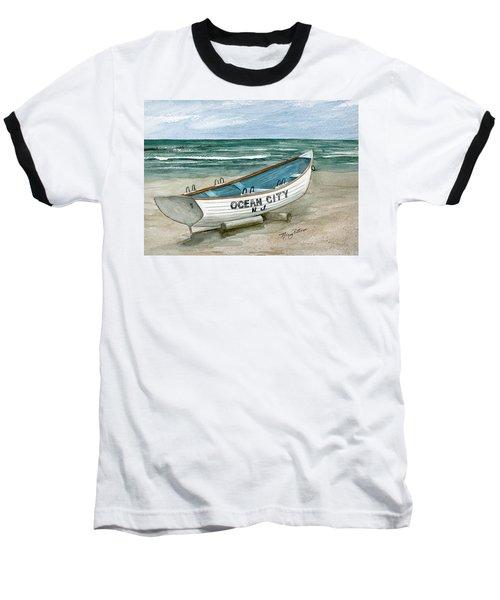 Ocean City Lifeguard Boat Baseball T-Shirt