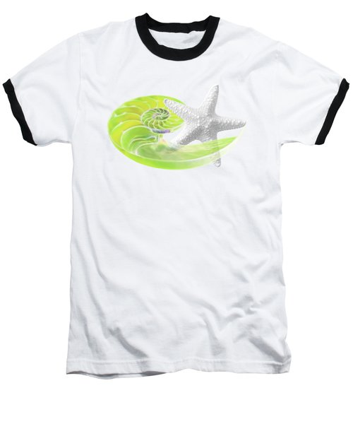 Ocean Fresh Baseball T-Shirt by Gill Billington