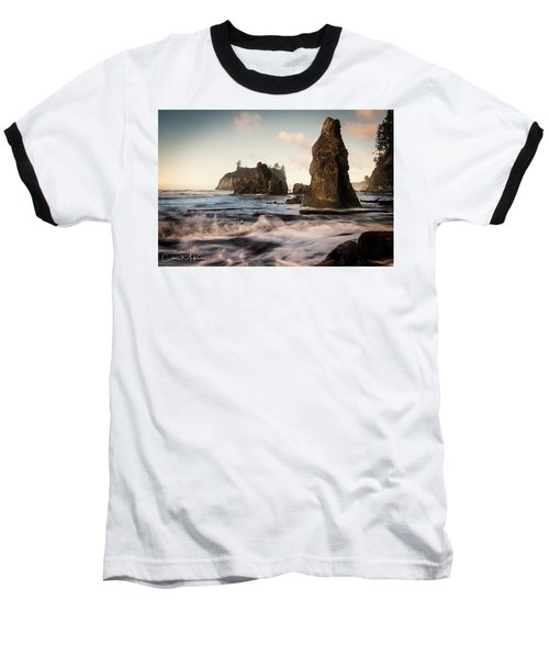 Baseball T-Shirt featuring the photograph Ocean Spire Signature Series by Chris McKenna