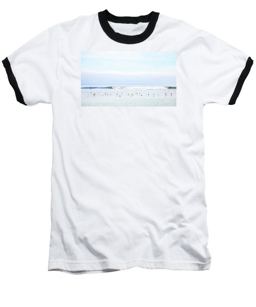Baseball T-Shirt featuring the photograph Ocean View With Seagulls by Theresa Tahara