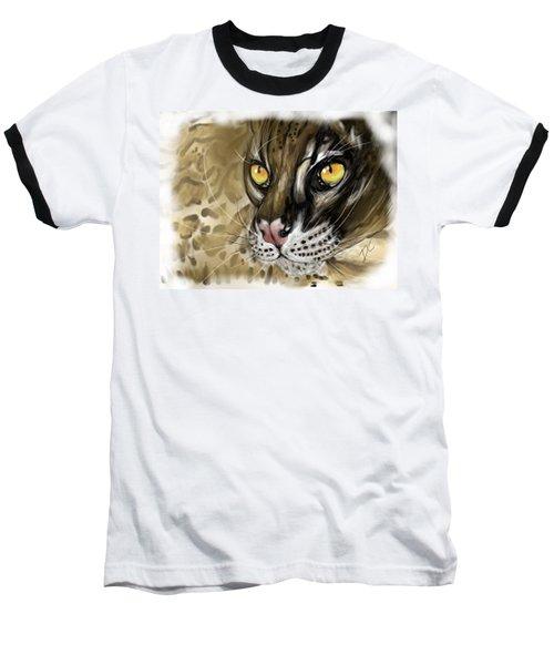 Ocelot Baseball T-Shirt by Darren Cannell