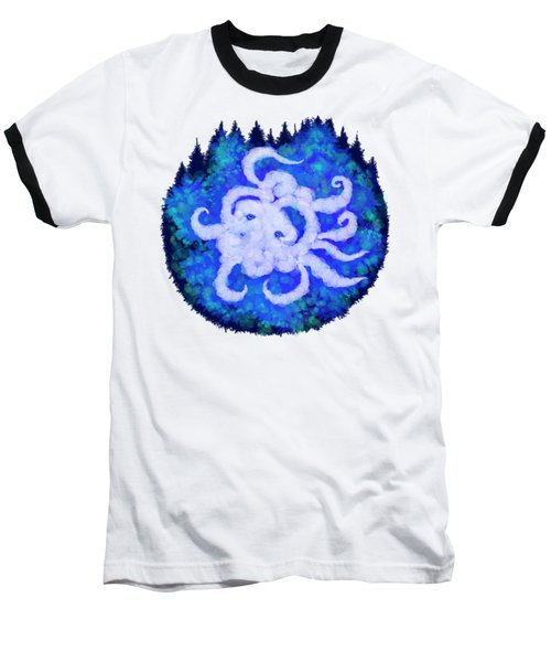 Octopus And Trees Baseball T-Shirt by Adria Trail