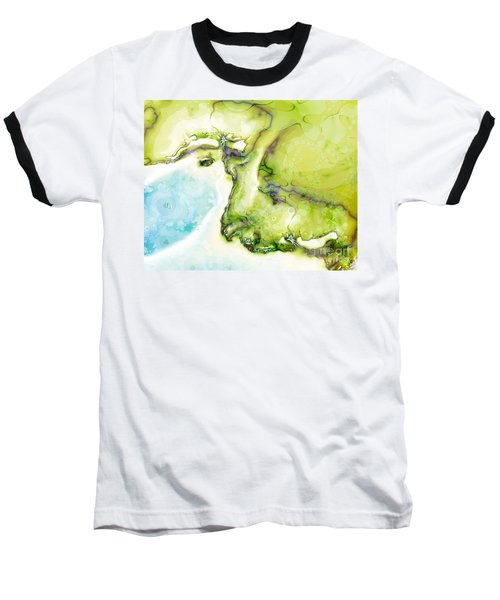 Of Earth And Water Baseball T-Shirt by Michelle H