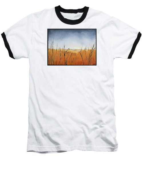 Of Grass And Seed Baseball T-Shirt by Carolyn Doe