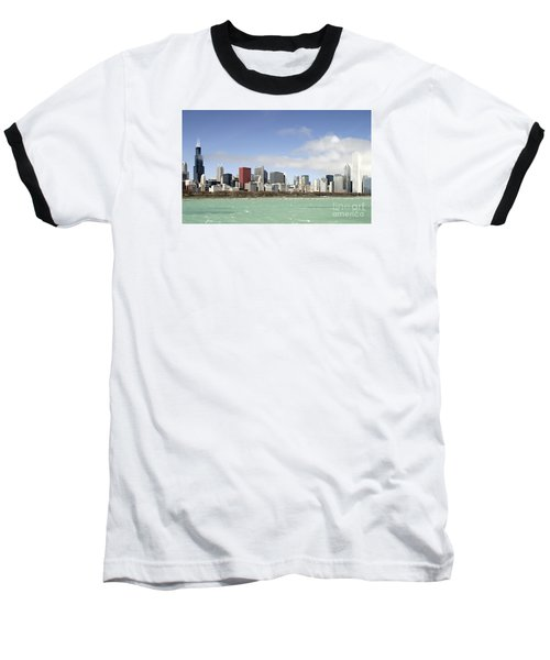 Off The Shore Of Chicago Baseball T-Shirt by Ricky L Jones