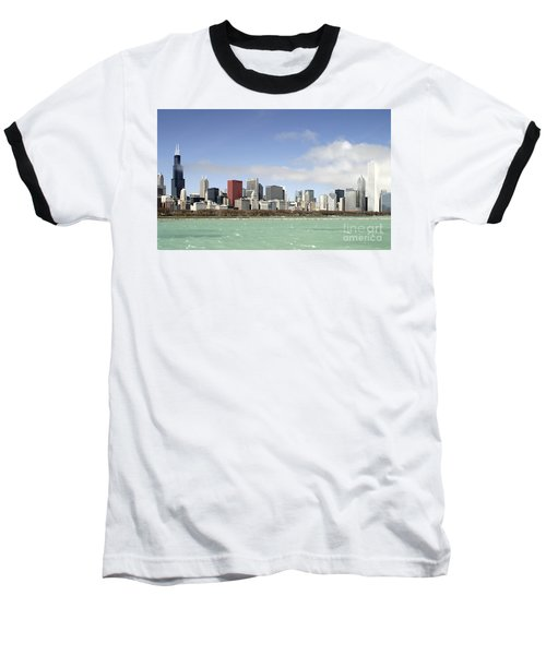 Off The Shore Of Chicago Baseball T-Shirt