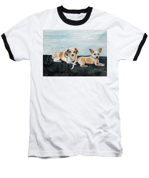 Oil Painting Baseball T-Shirt