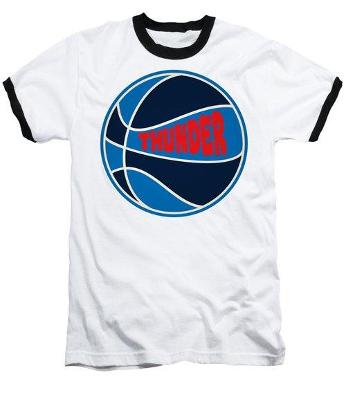 Baseball T-Shirt featuring the photograph Oklahoma City Thunder Retro Shirt by Joe Hamilton