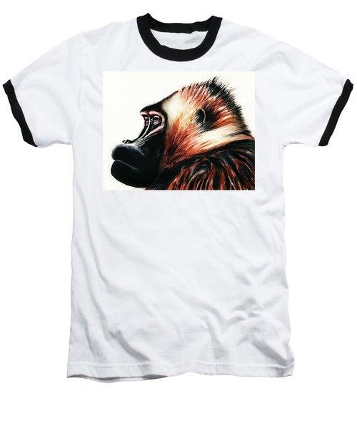 Old Baboon Animal Art Drawing Baseball T-Shirt