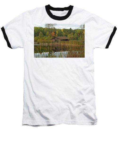 Old Bait Shop On Twin Lake_9626 Baseball T-Shirt by Michael Peychich