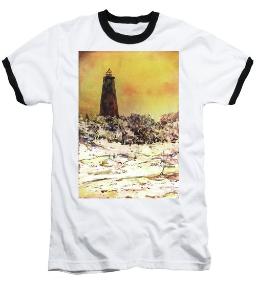 Old Baldy Lighthouse- North Carolina Baseball T-Shirt by Ryan Fox