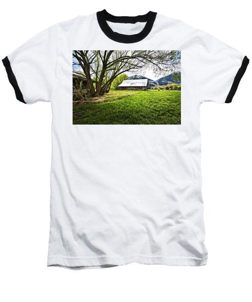 Old Barn In Eden Utah Baseball T-Shirt