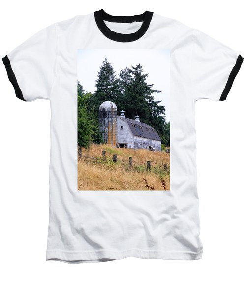 Old Barn In Field Baseball T-Shirt by Athena Mckinzie