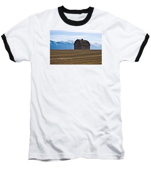 Old Barn, Mission Mountains 2 Baseball T-Shirt