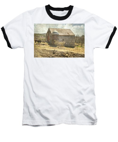 Old Barn Still Standing  Baseball T-Shirt by Betty Pauwels